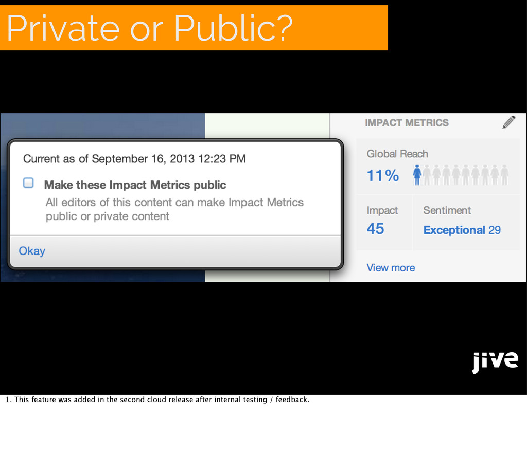 Private or Public? 1. This feature was added in...