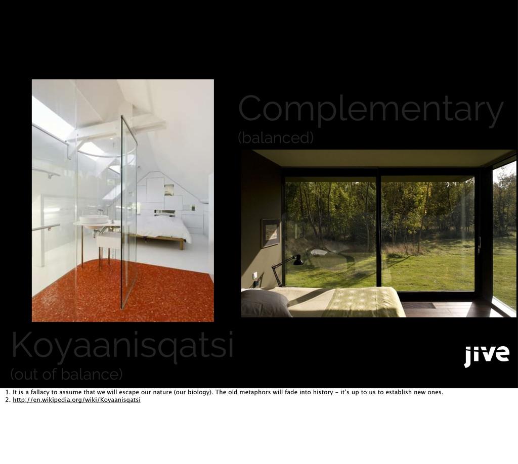 Koyaanisqatsi (out of balance) Complementary (b...