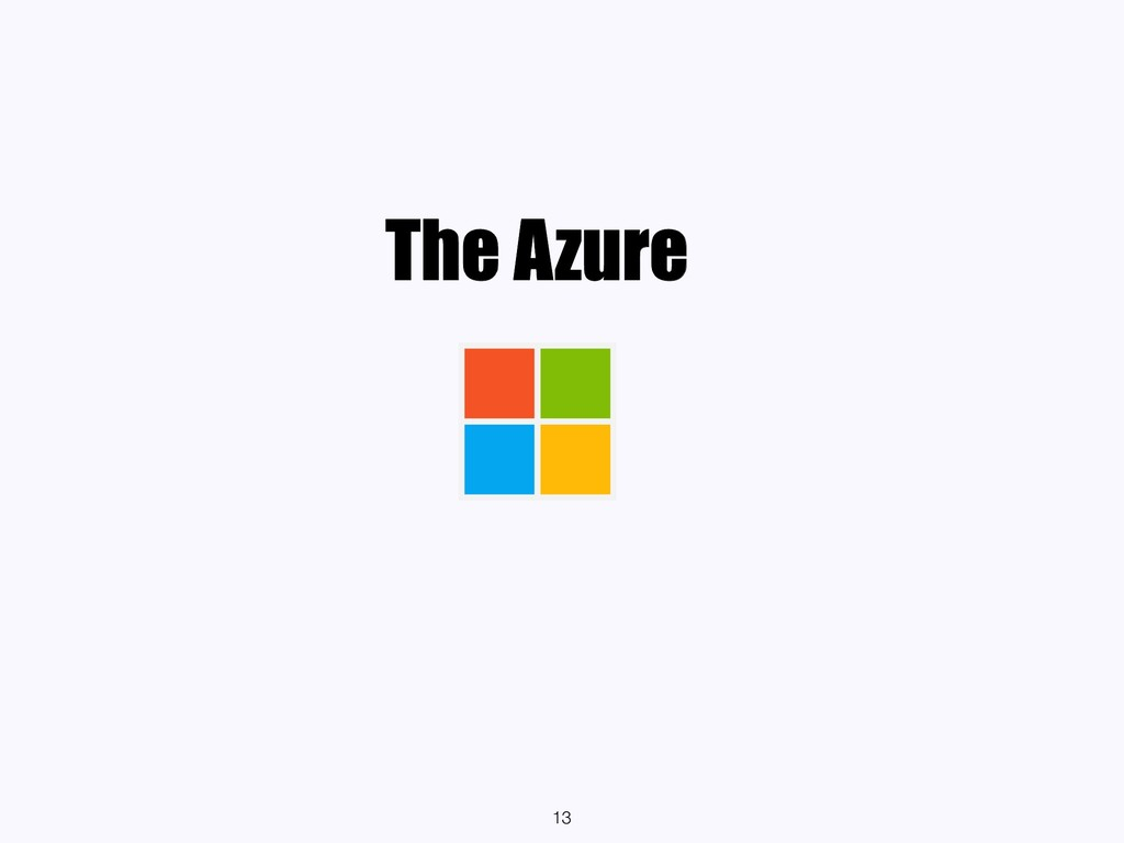 The Azure 13