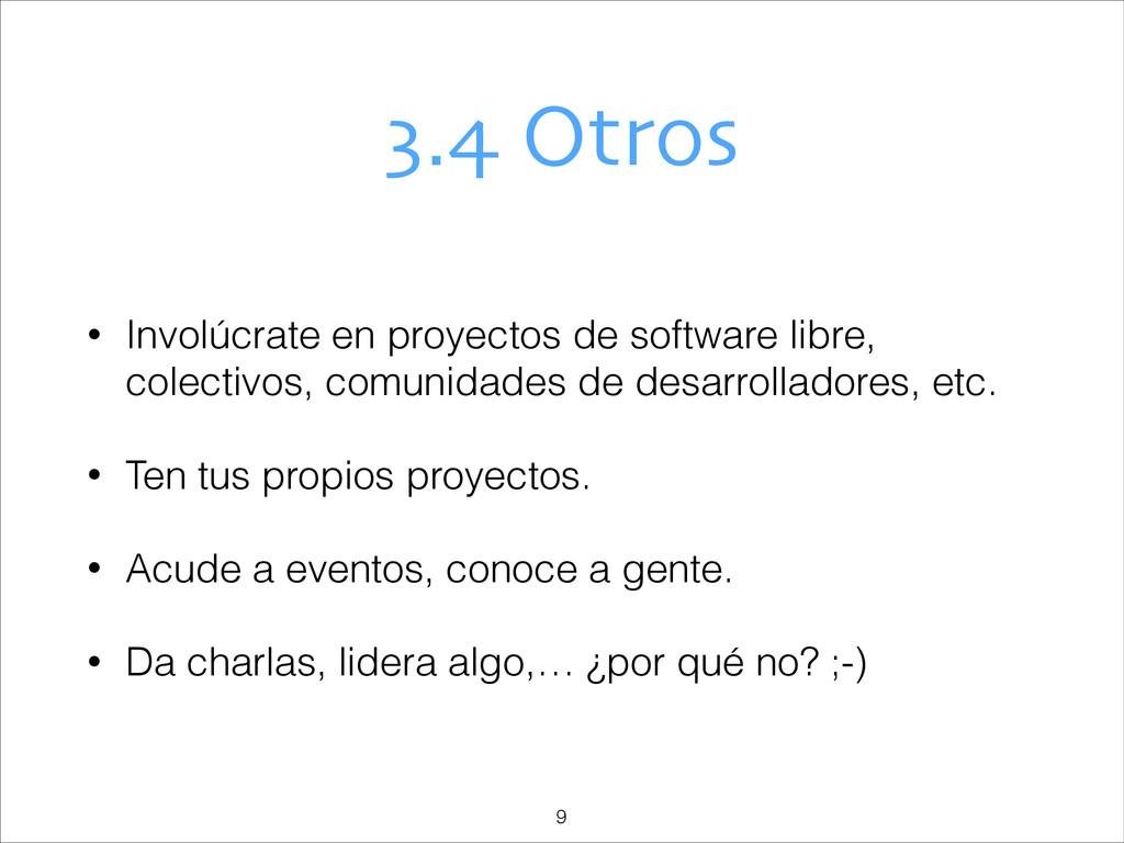 3.4 Otros • Involúcrate en proyectos de softwar...