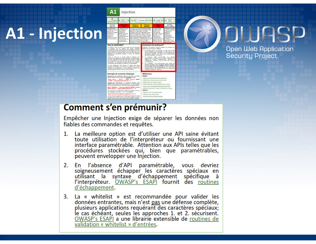 A1 - Injection