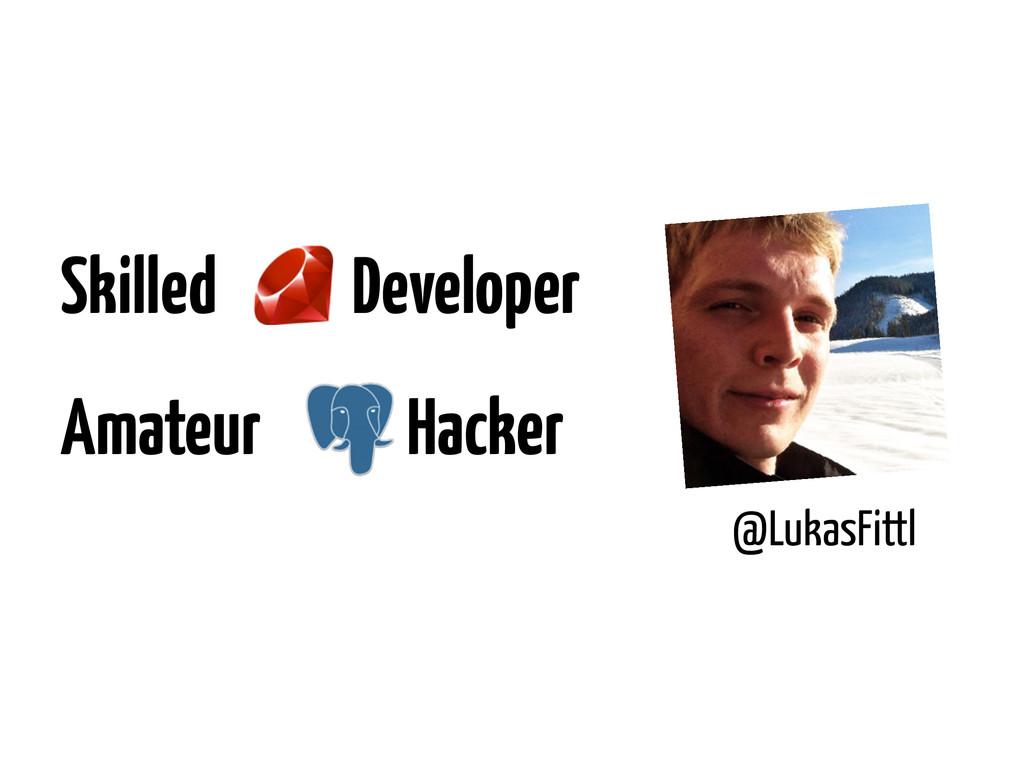 Skilled Developer Amateur Hacker @LukasFittl