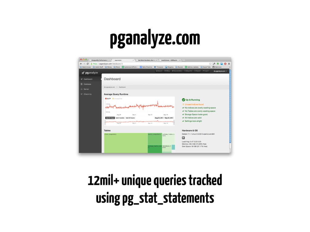 12mil+ unique queries tracked using pg_stat_sta...