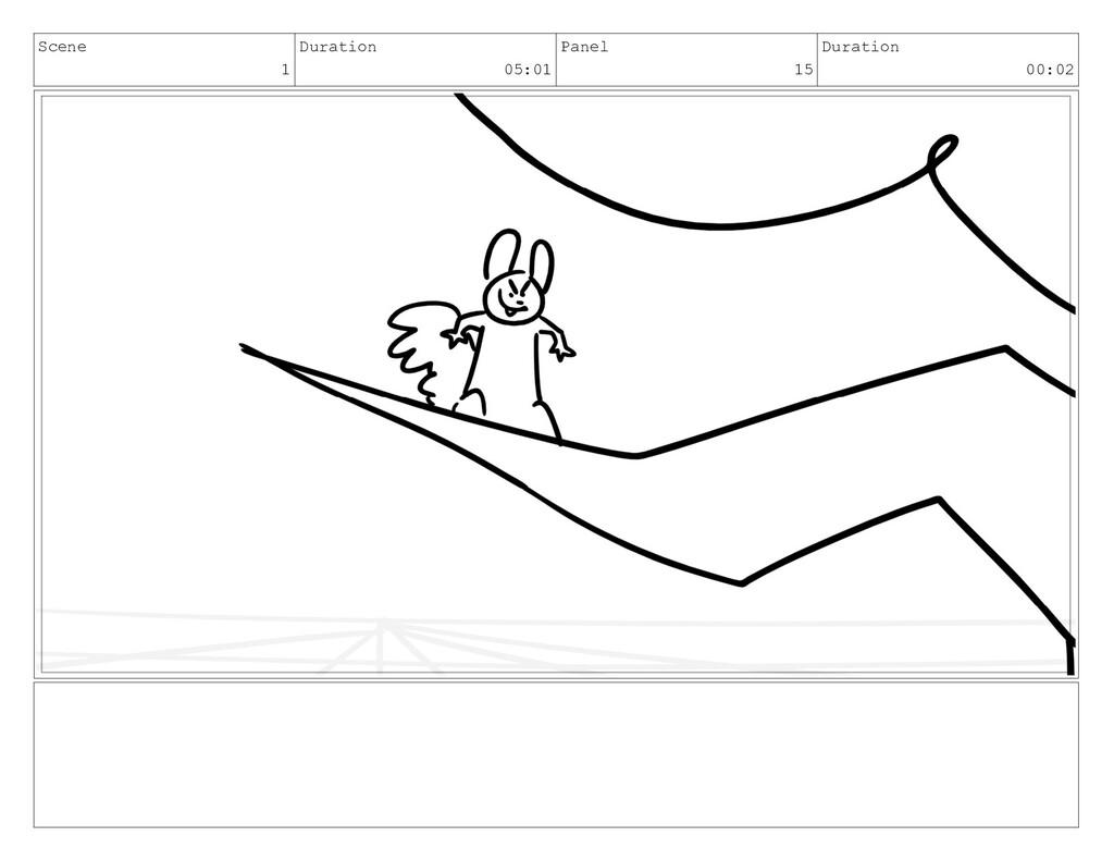 Scene 1 Duration 05:01 Panel 15 Duration 00:02