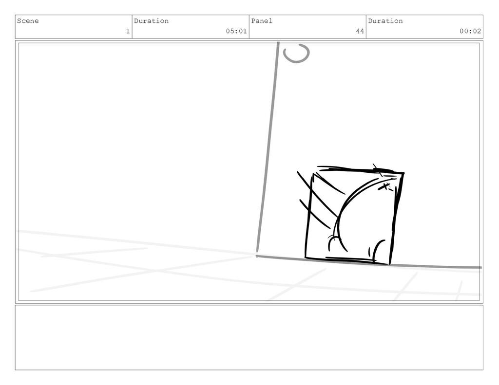 Scene 1 Duration 05:01 Panel 44 Duration 00:02