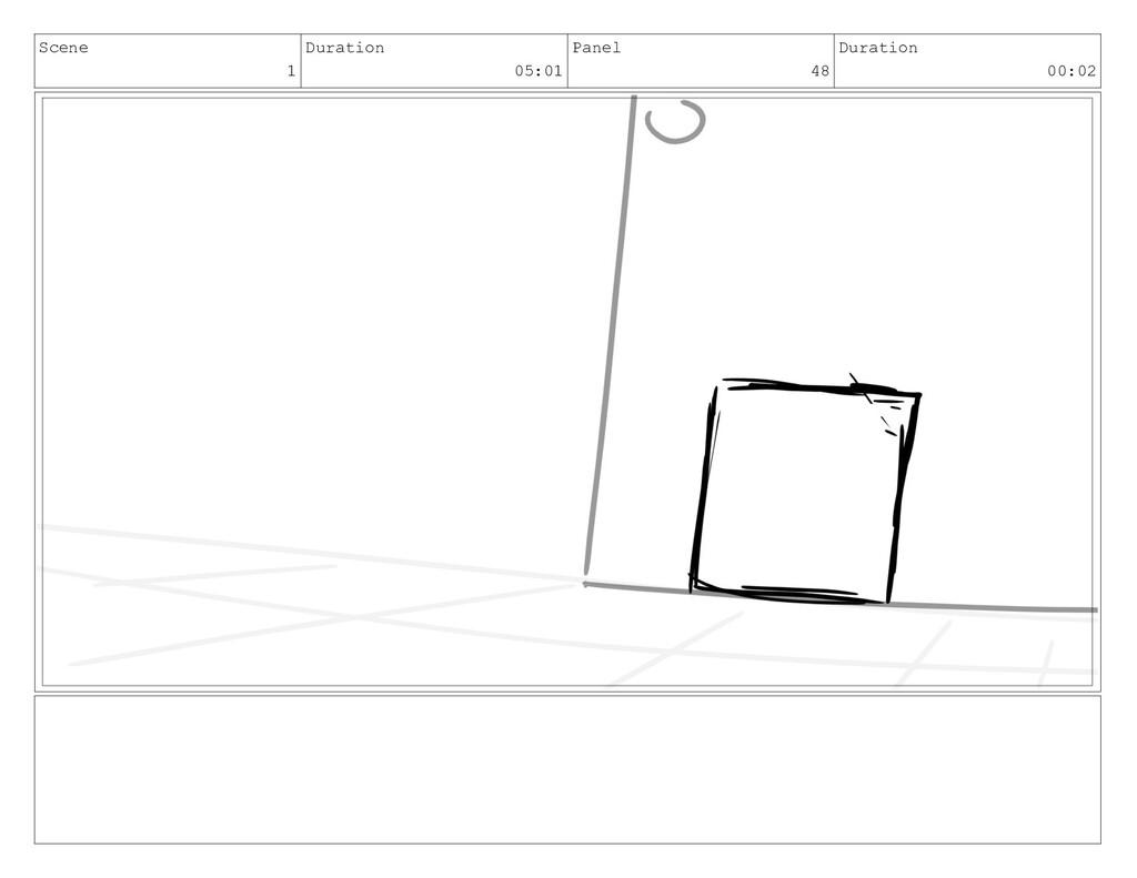 Scene 1 Duration 05:01 Panel 48 Duration 00:02