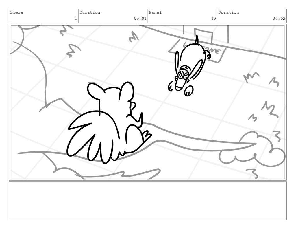 Scene 1 Duration 05:01 Panel 49 Duration 00:02