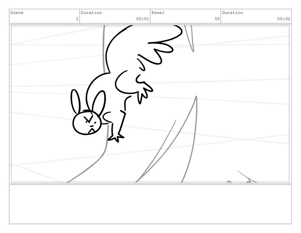 Scene 1 Duration 05:01 Panel 55 Duration 00:02