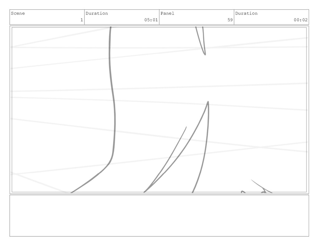 Scene 1 Duration 05:01 Panel 59 Duration 00:02