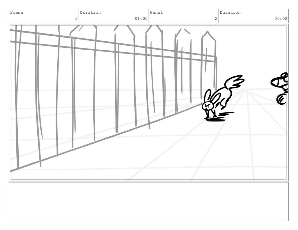 Scene 2 Duration 01:00 Panel 2 Duration 00:02