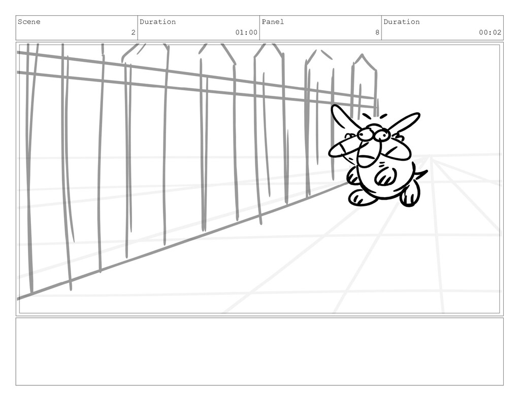 Scene 2 Duration 01:00 Panel 8 Duration 00:02