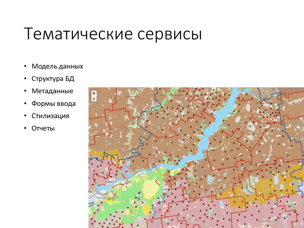 Тематические сервисы • Модель данных • Структур...