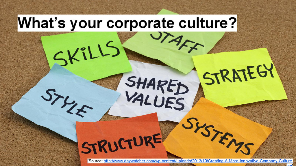 What's your corporate culture? [Source: http://...