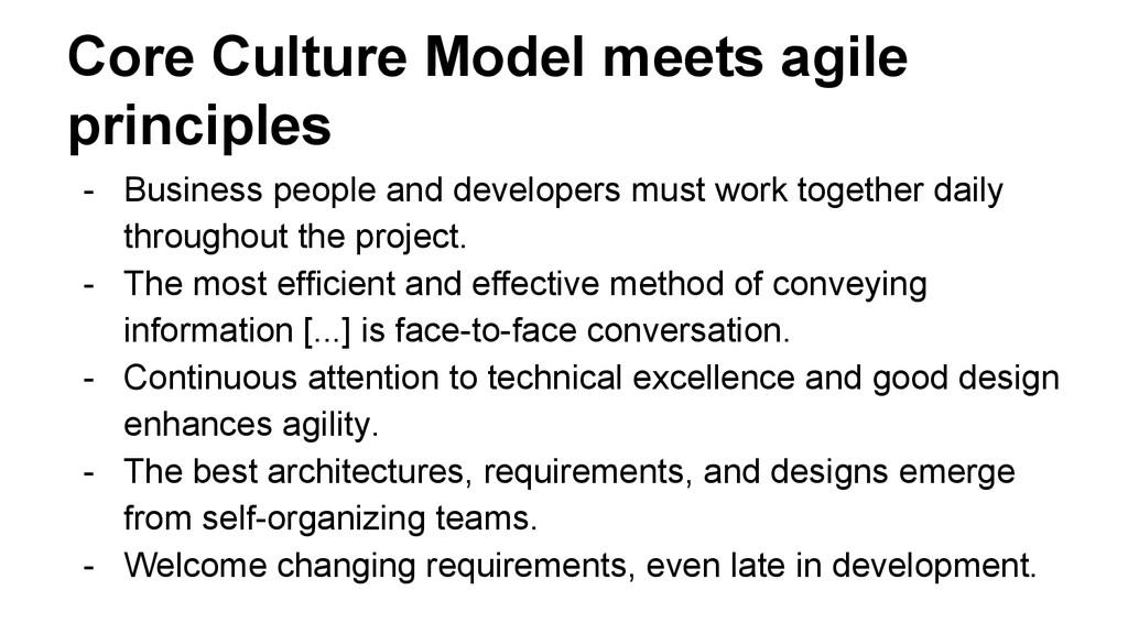 Core Culture Model meets agile principles - Bus...