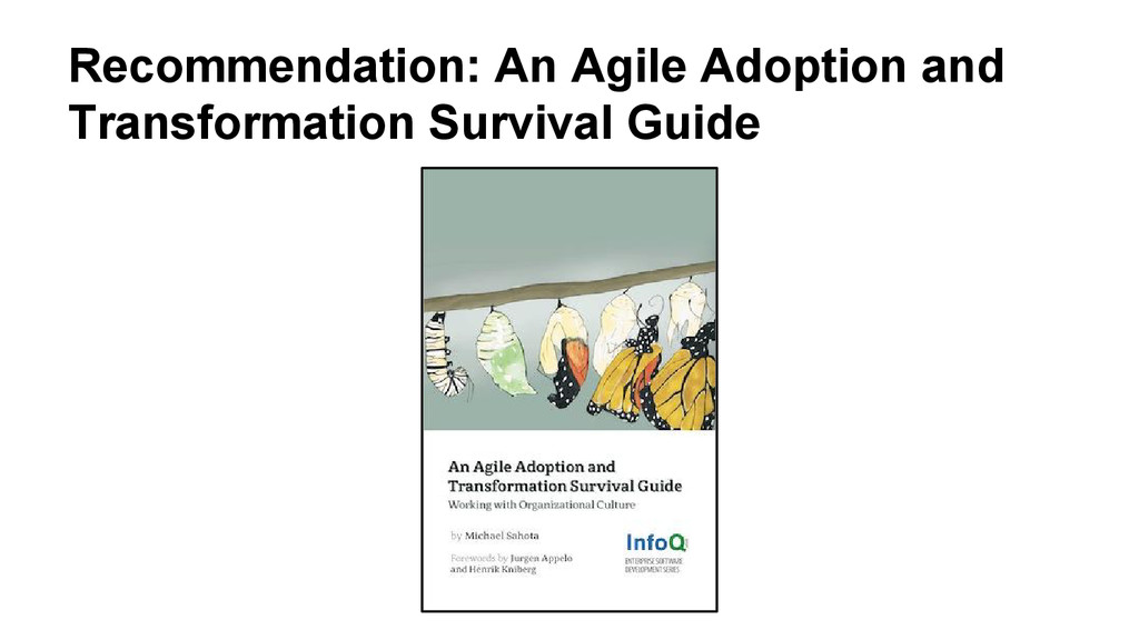 Recommendation: An Agile Adoption and Transform...