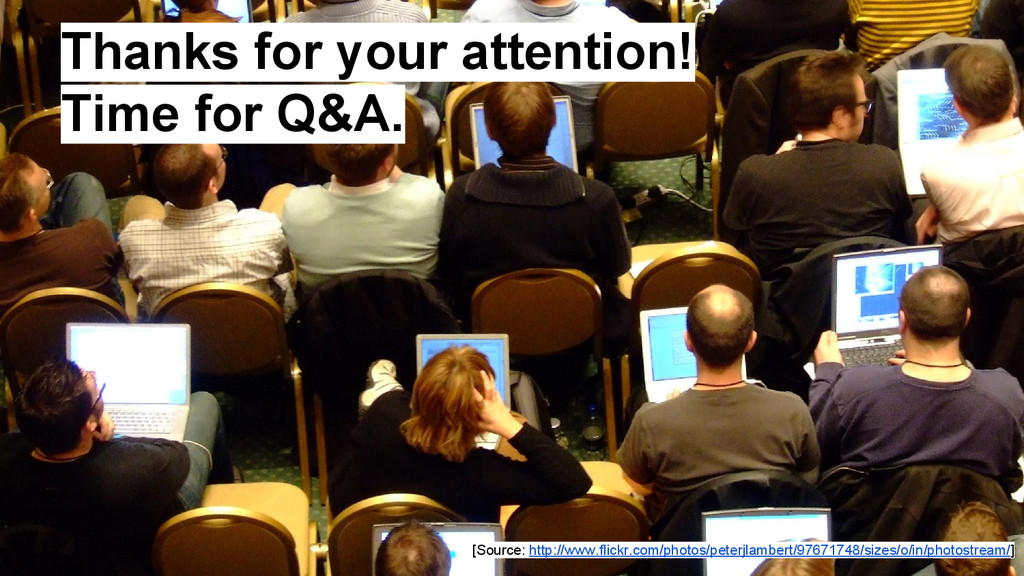 Thanks for your attention! Time for Q&A. [Sourc...