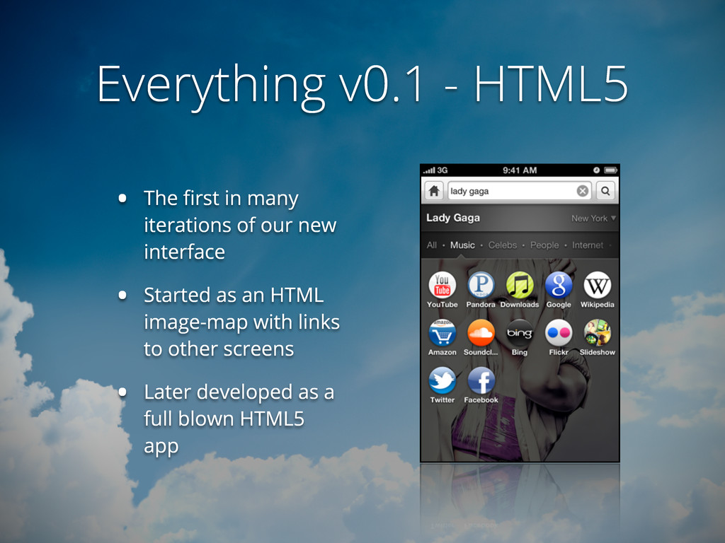 Everything v0.1 - HTML5 • The first in many iter...