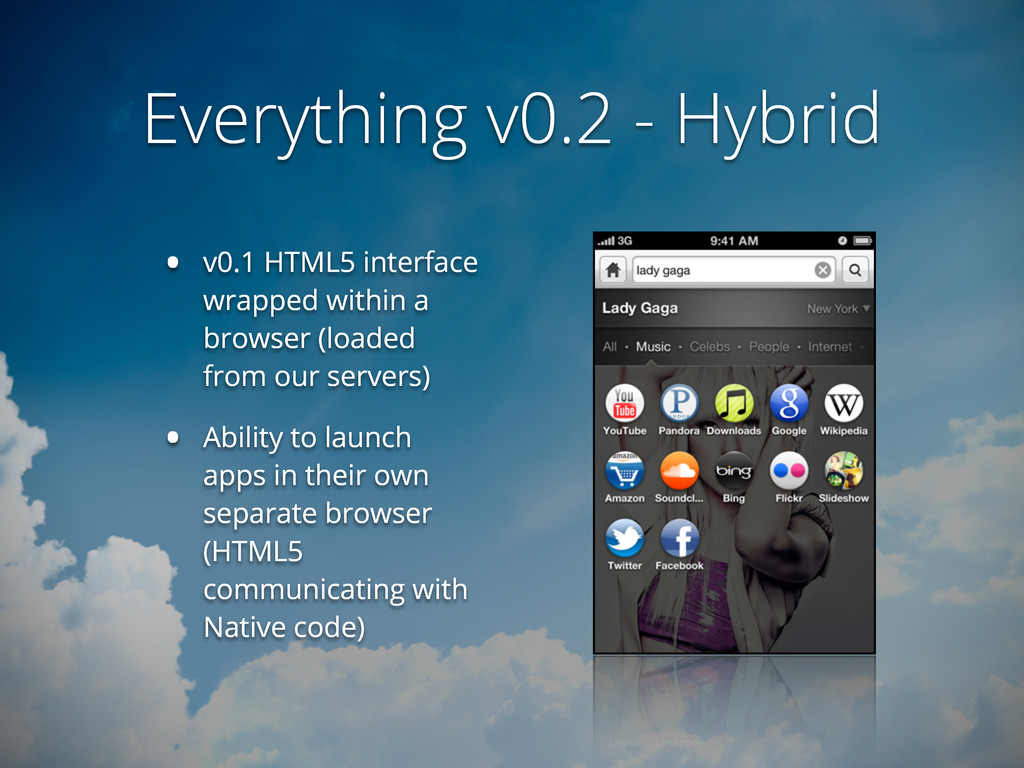 Everything v0.2 - Hybrid • v0.1 HTML5 interface...