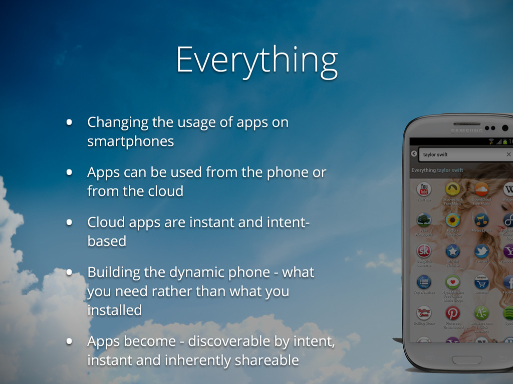 Everything • Changing the usage of apps on smar...