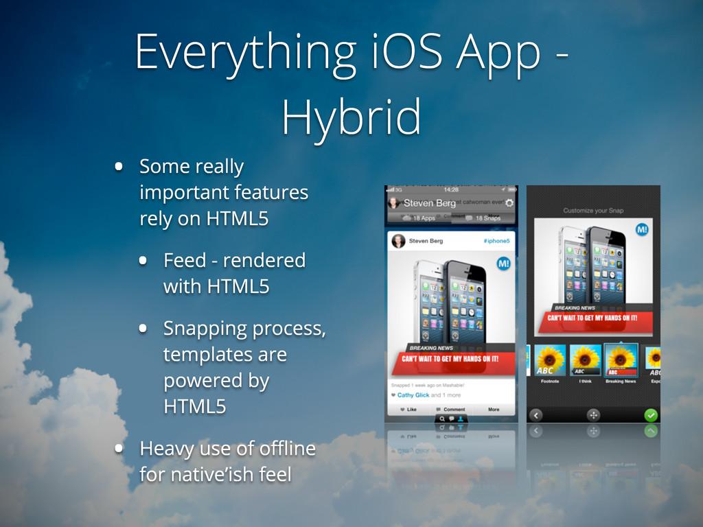 Everything iOS App - Hybrid • Some really impor...