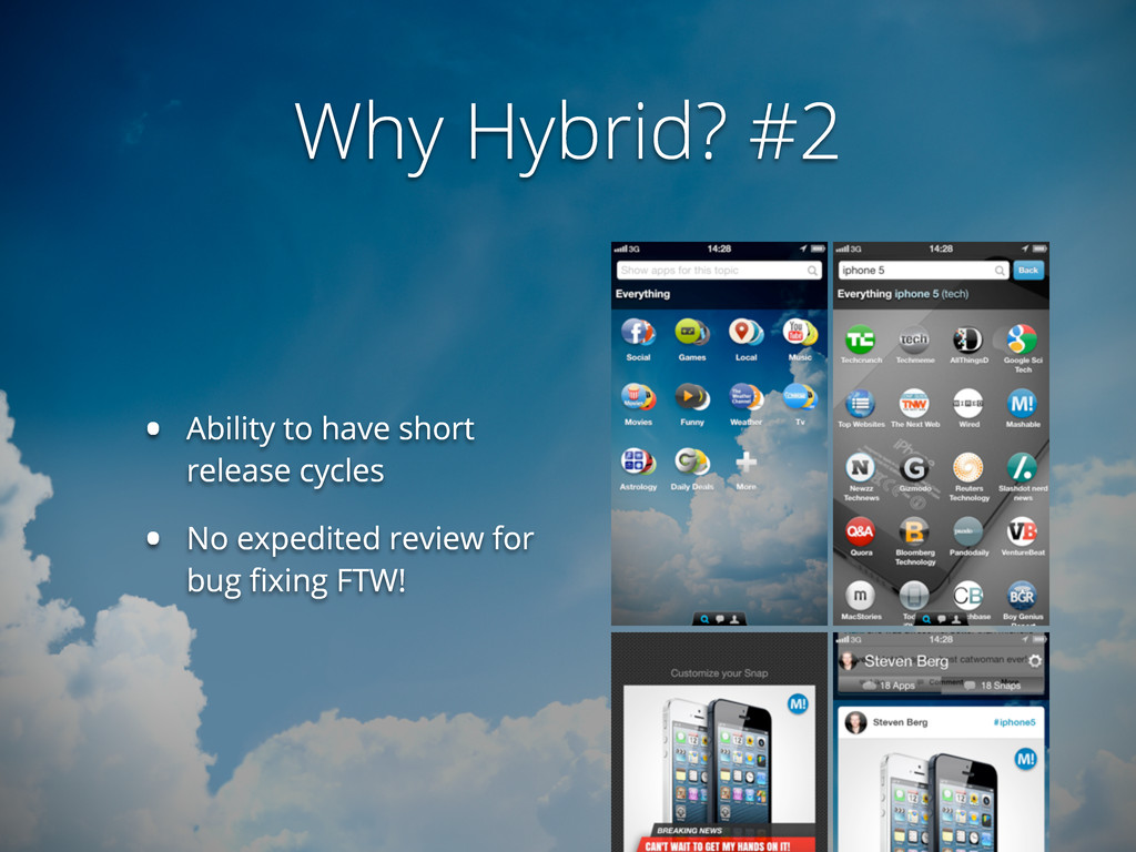 Why Hybrid? #2 • Ability to have short release ...