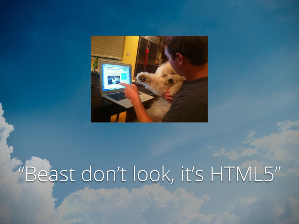 """""""Beast don't look, it's HTML5"""""""