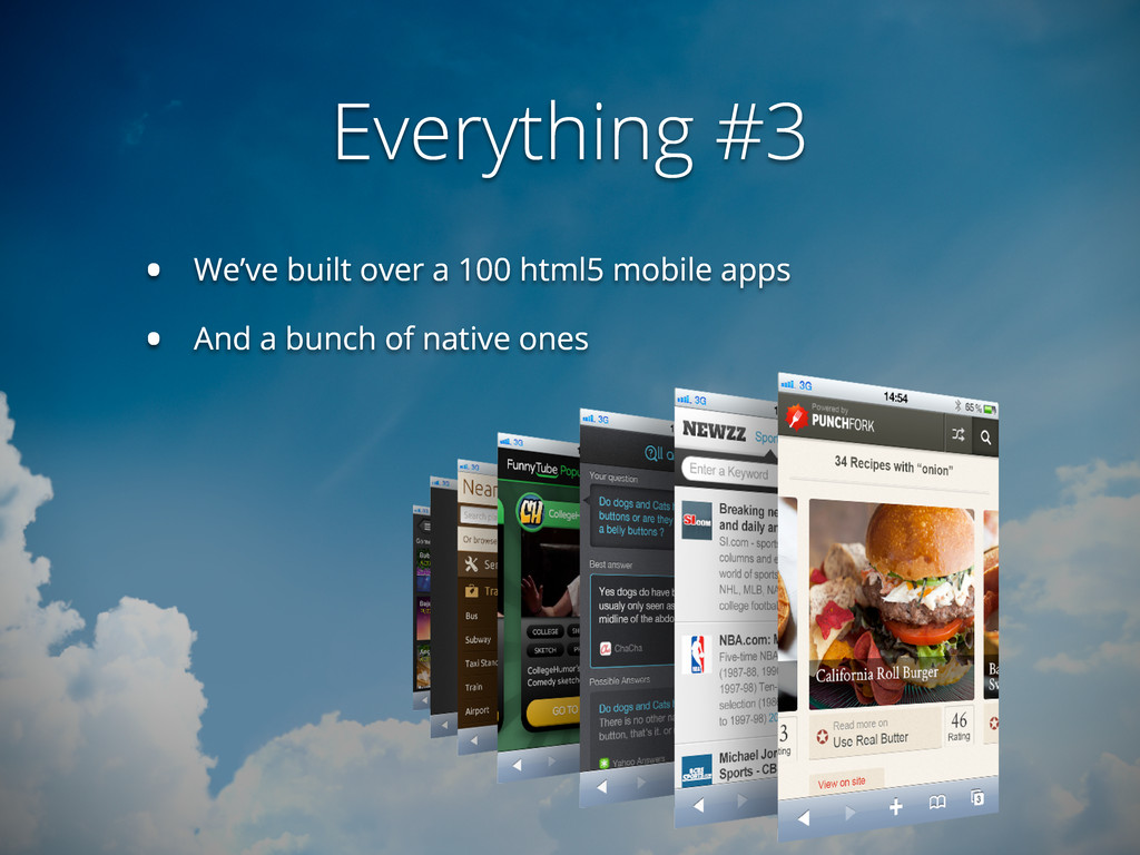Everything #3 • We've built over a 100 html5 mo...