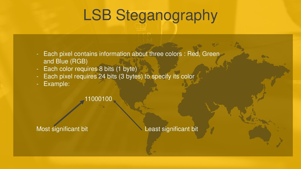LSB Steganography - Each pixel contains informa...