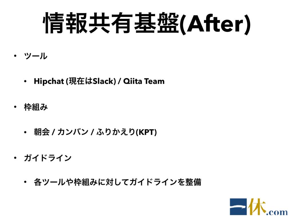 ใڞ༗ج൫(After) • πʔϧ • Hipchat (ݱࡏSlack) / Qiit...