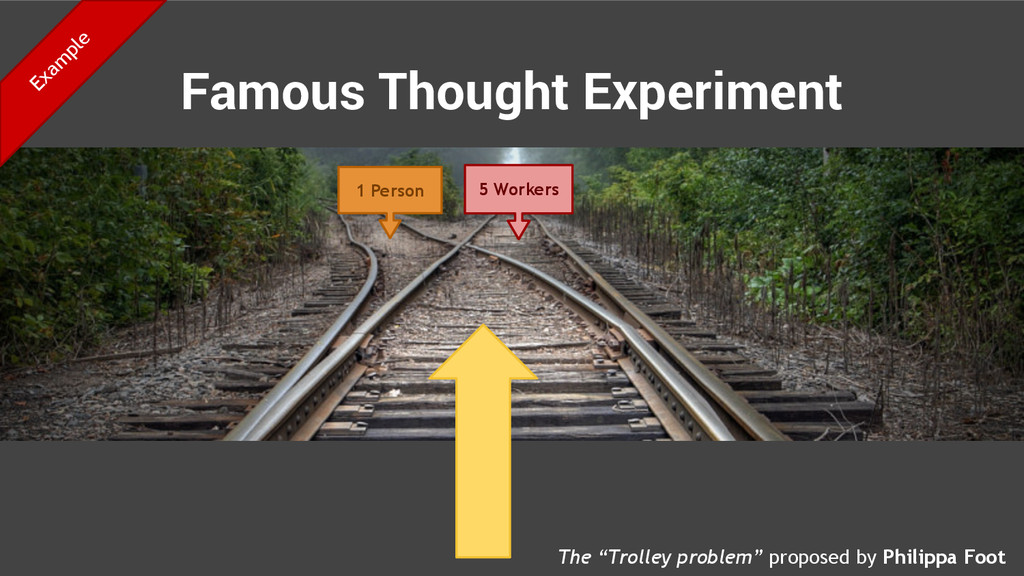 Famous Thought Experiment 1 Person 5 Workers Th...