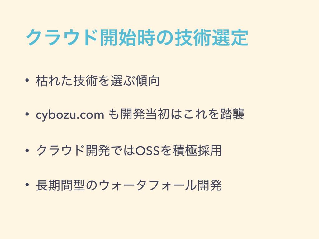 Ϋϥυ։ͷٕज़બఆ • ރΕٕͨज़ΛબͿ • cybozu.com ։ൃॳ͜Ε...