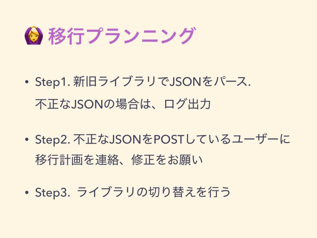 Ҡߦϓϥϯχϯά • Step1. ৽چϥΠϒϥϦͰJSONΛύʔε. ෆਖ਼ͳJSONͷ...