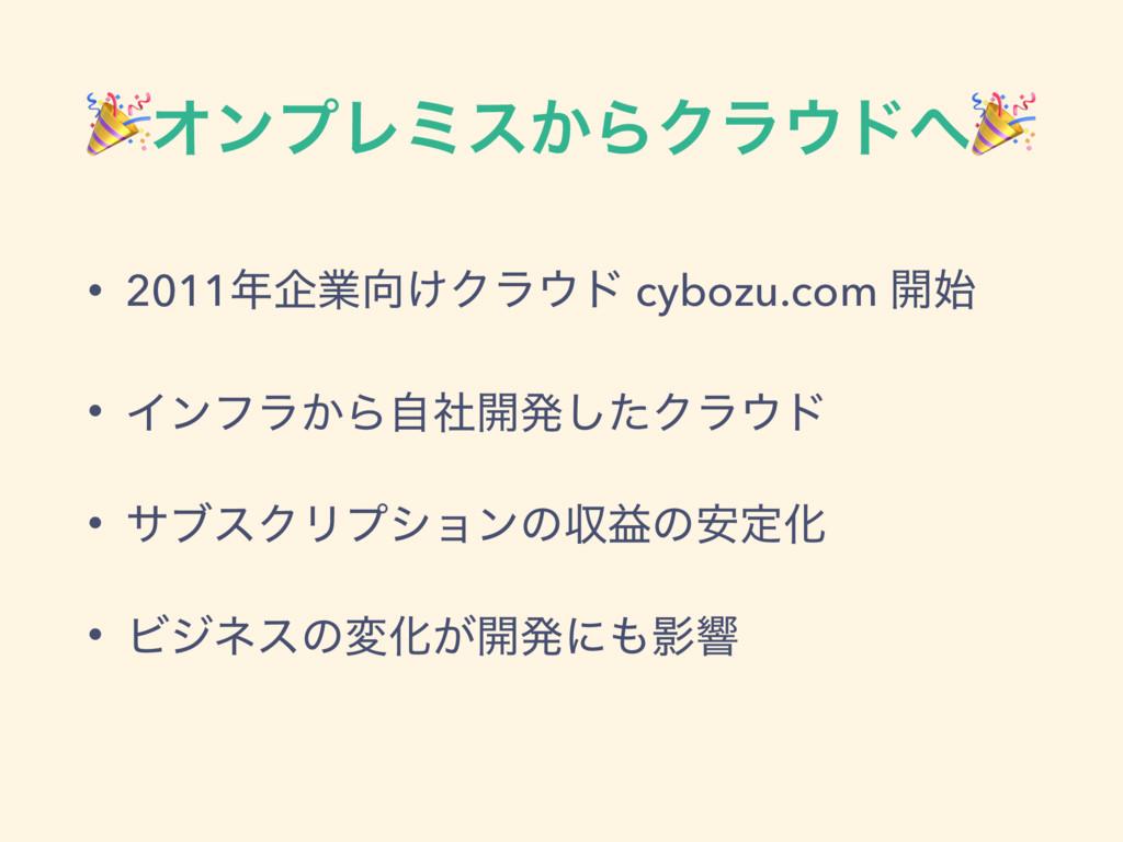 ΦϯϓϨϛε͔ΒΫϥυ • 2011اۀ͚Ϋϥυ cybozu.com ։ • Π...