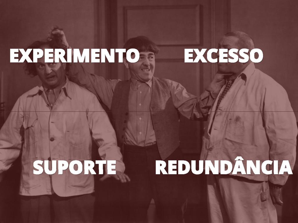 EXPERIMENTO EXCESSO SUPORTE REDUNDÂNCIA