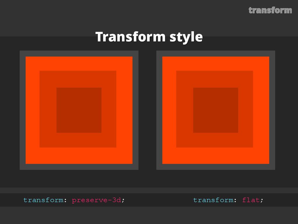 transform Transform style transform: preserve-3...