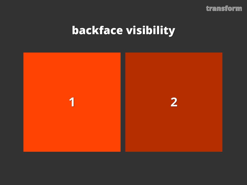 transform backface visibility 2 1