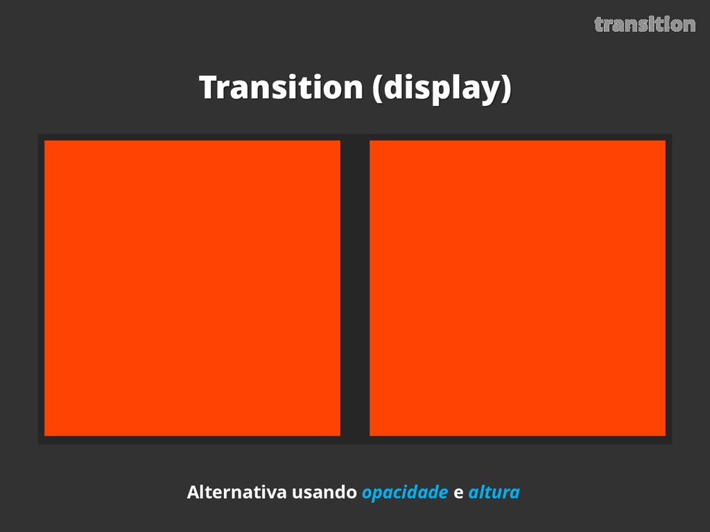 transition Transition (display) Alternativa usa...