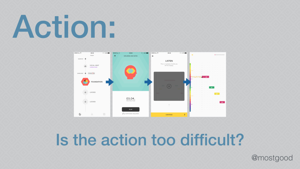 @mostgood Action: Is the action too difficult?