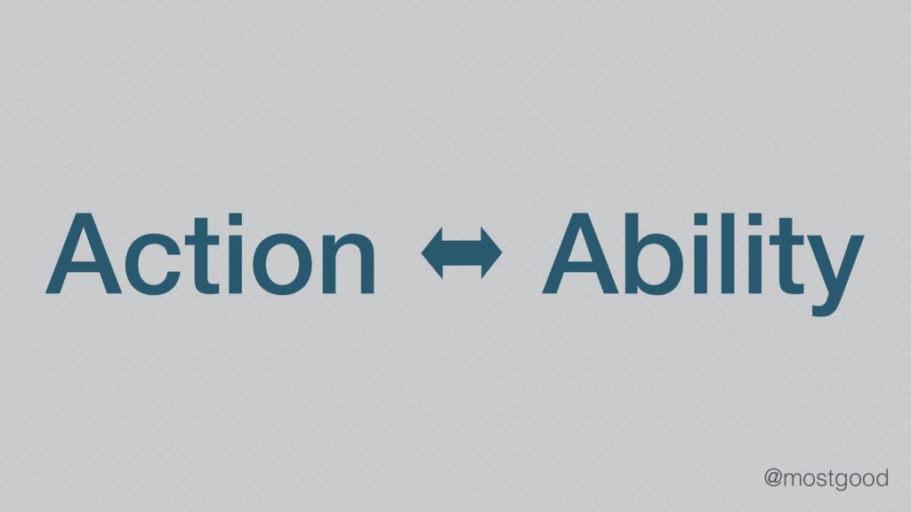 @mostgood Action ⬌ Ability