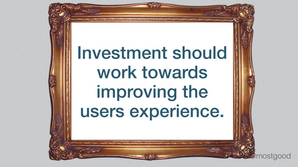 @mostgood Investment should work towards improv...