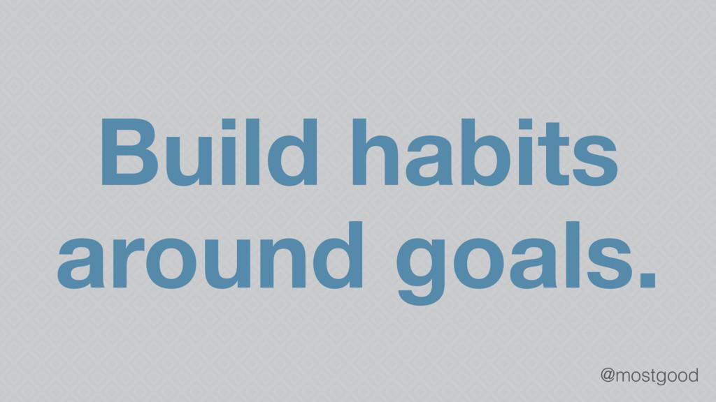 @mostgood Build habits around goals.