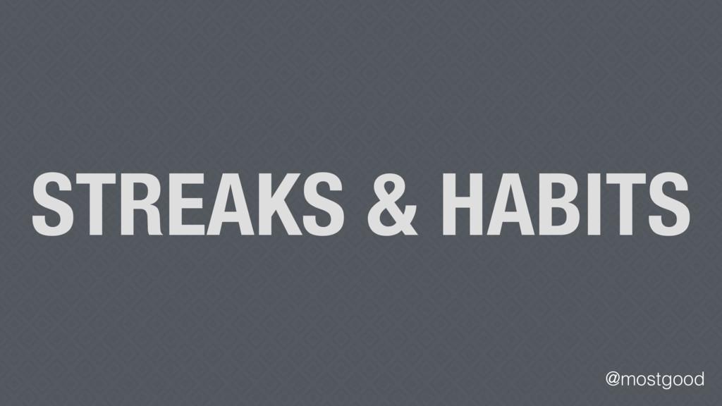@mostgood STREAKS & HABITS