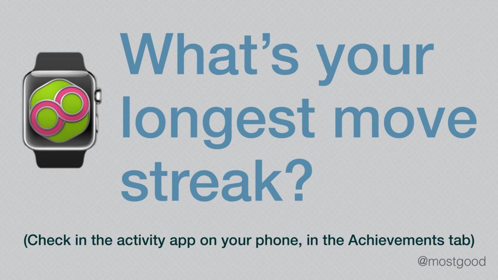 @mostgood ⌚What's your longest move streak? (Ch...