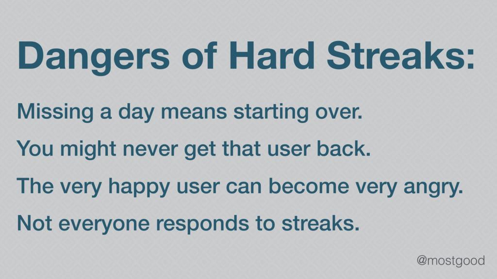 @mostgood Dangers of Hard Streaks: Missing a da...