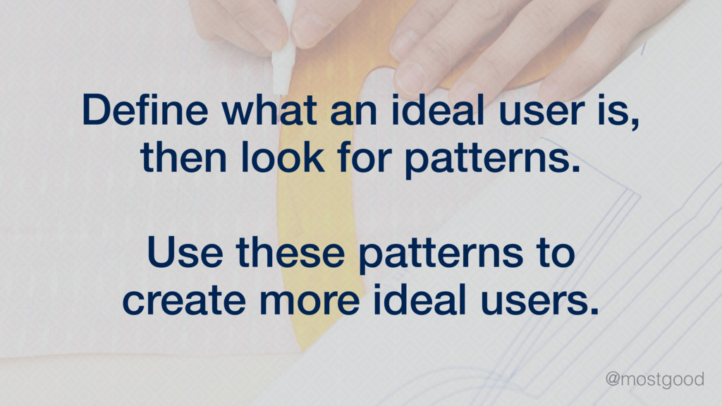 @mostgood Define what an ideal user is, then loo...