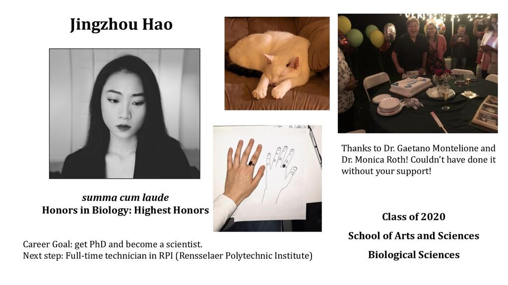 Jingzhou Hao Class of 2020 School of Arts and S...