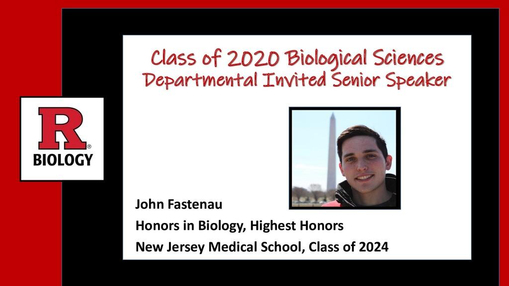 Class of 2020 Biological Sciences Departmental ...