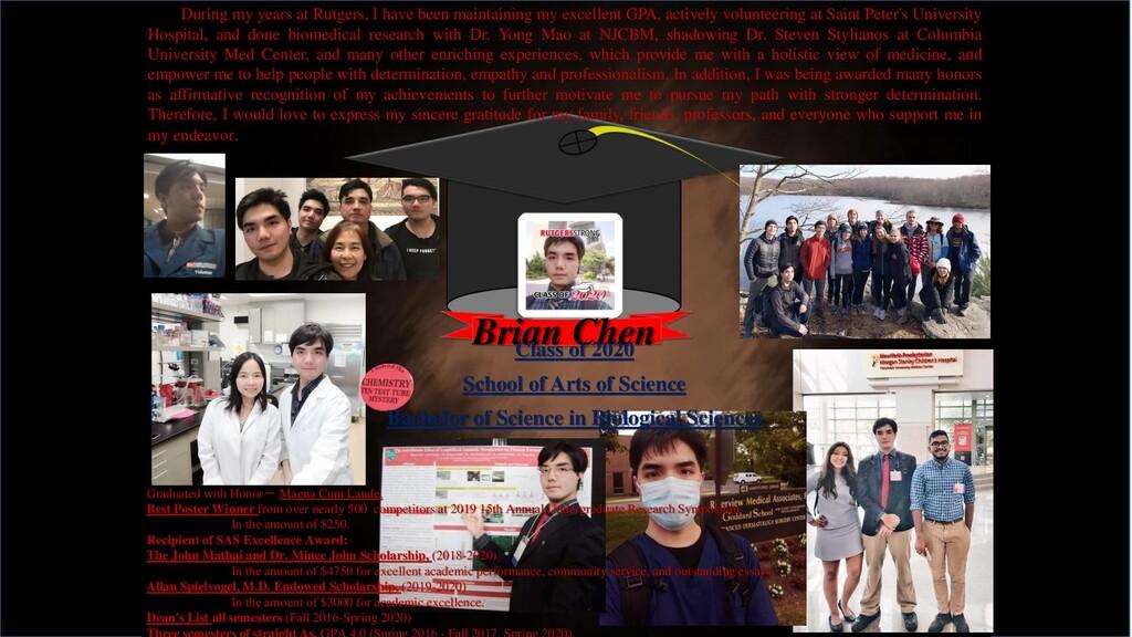 Brian Chen Graduated with Honor- Magna Cum Laud...