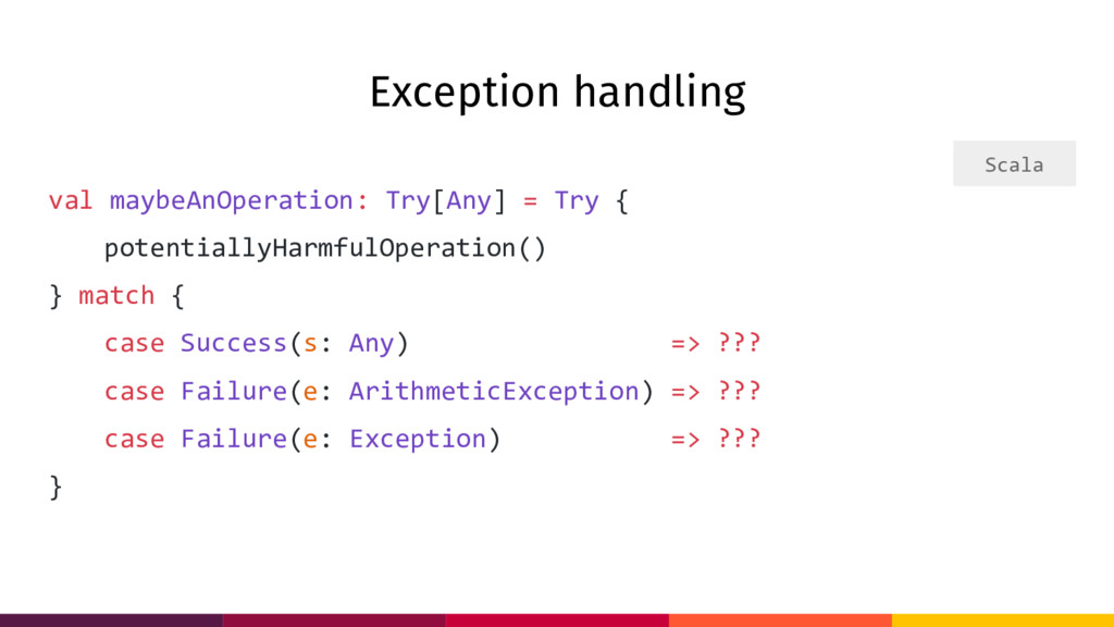 Exception handling val maybeAnOperation: Try[An...