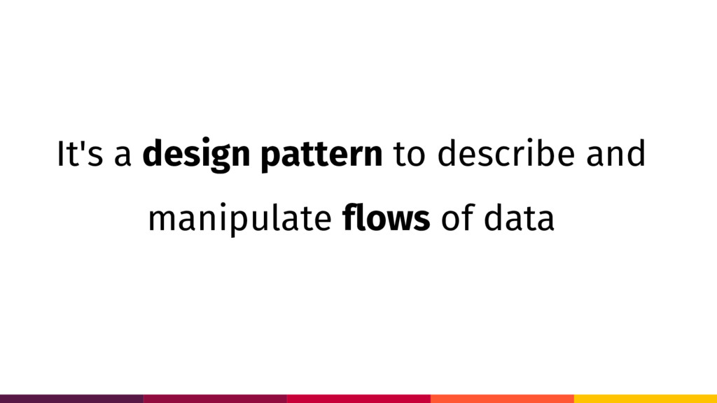 It's a design pattern to describe and manipulat...